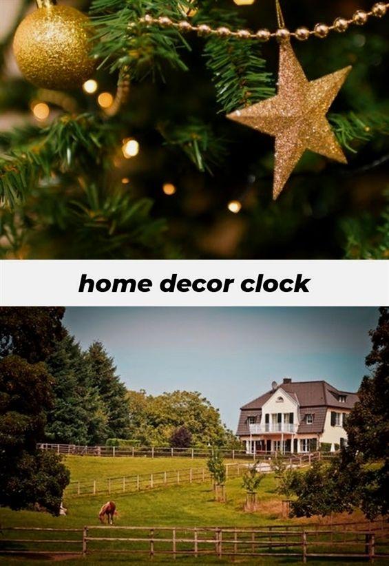 home decor clock 168 20180827132346 62 home decor art trends 2018