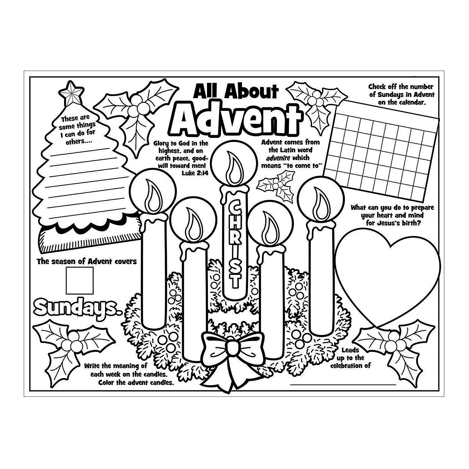 """Paper Color Your Own """"All About the Advent"""" Posters"""