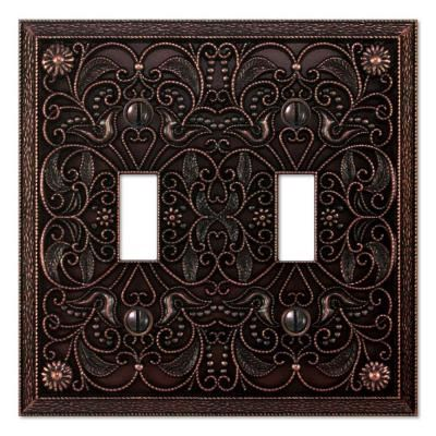 Creative Accents Bronze 2 Gang Toggle Wall Plate 9dcb102 The Home Depot Plates On Wall Antiques Switch Plates