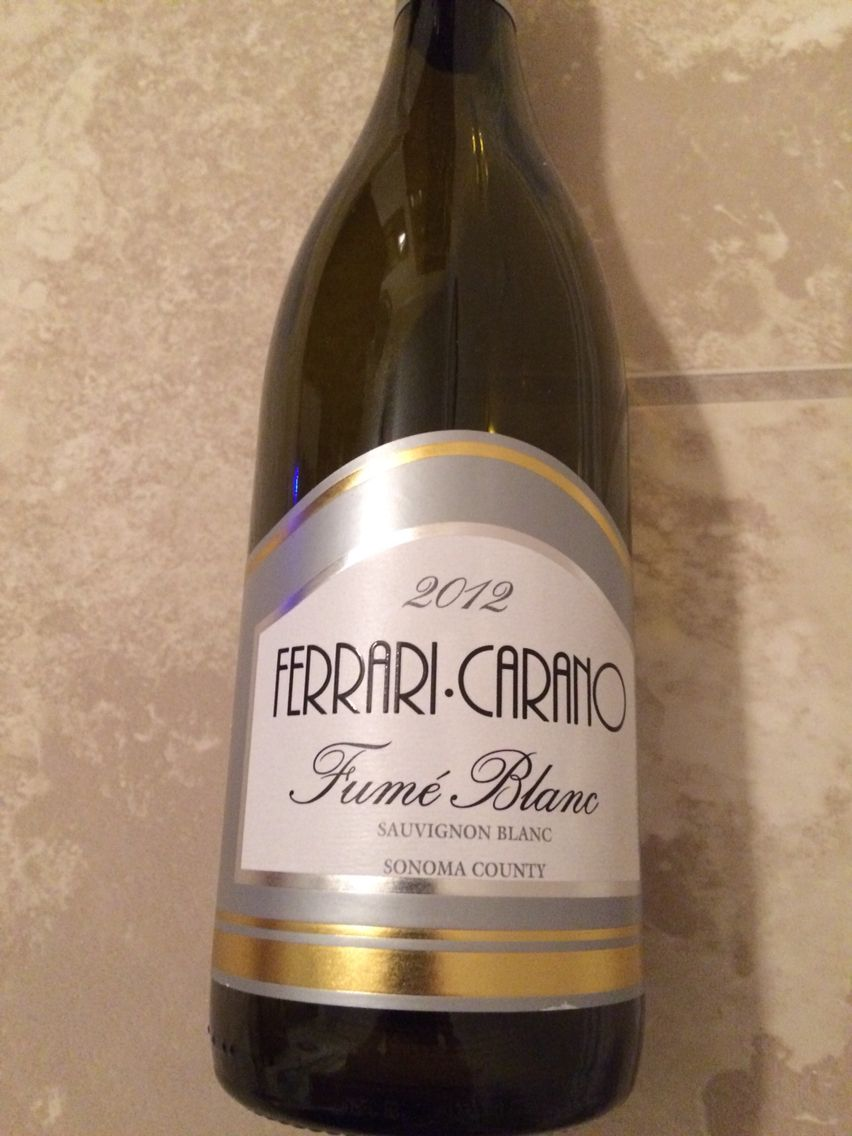 2012 Ferrari Carrano Sauvignon Blanc. Great Light White.