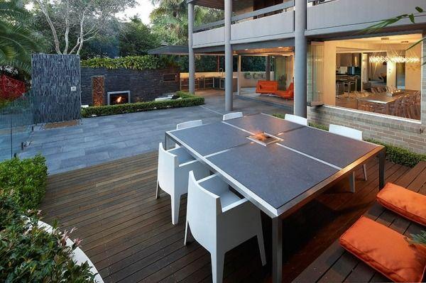 Essbereich Outdoor Möbel Design Garten Sitzgelegenheiten