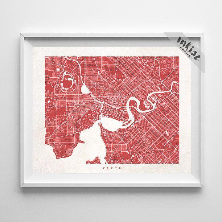 Perth Street Map Print | Perth