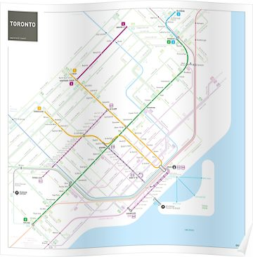 Toronto Bus And Subway Map.Toronto Metro Map Poster Products Bus Map Map Subway Map