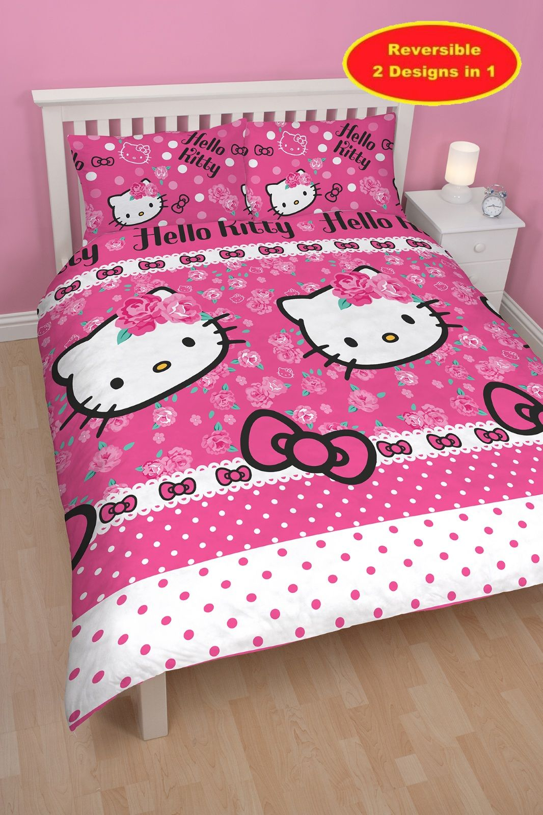 Hello Kitty Sommerwind Double Rotary Bedding Set Cat
