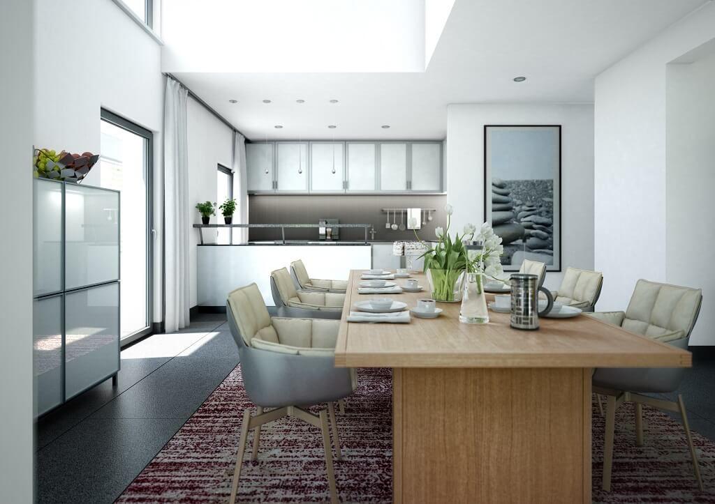 Innenraum Essplatz mit Galerie // Haus Concept-M 193 Bien Zenker ...