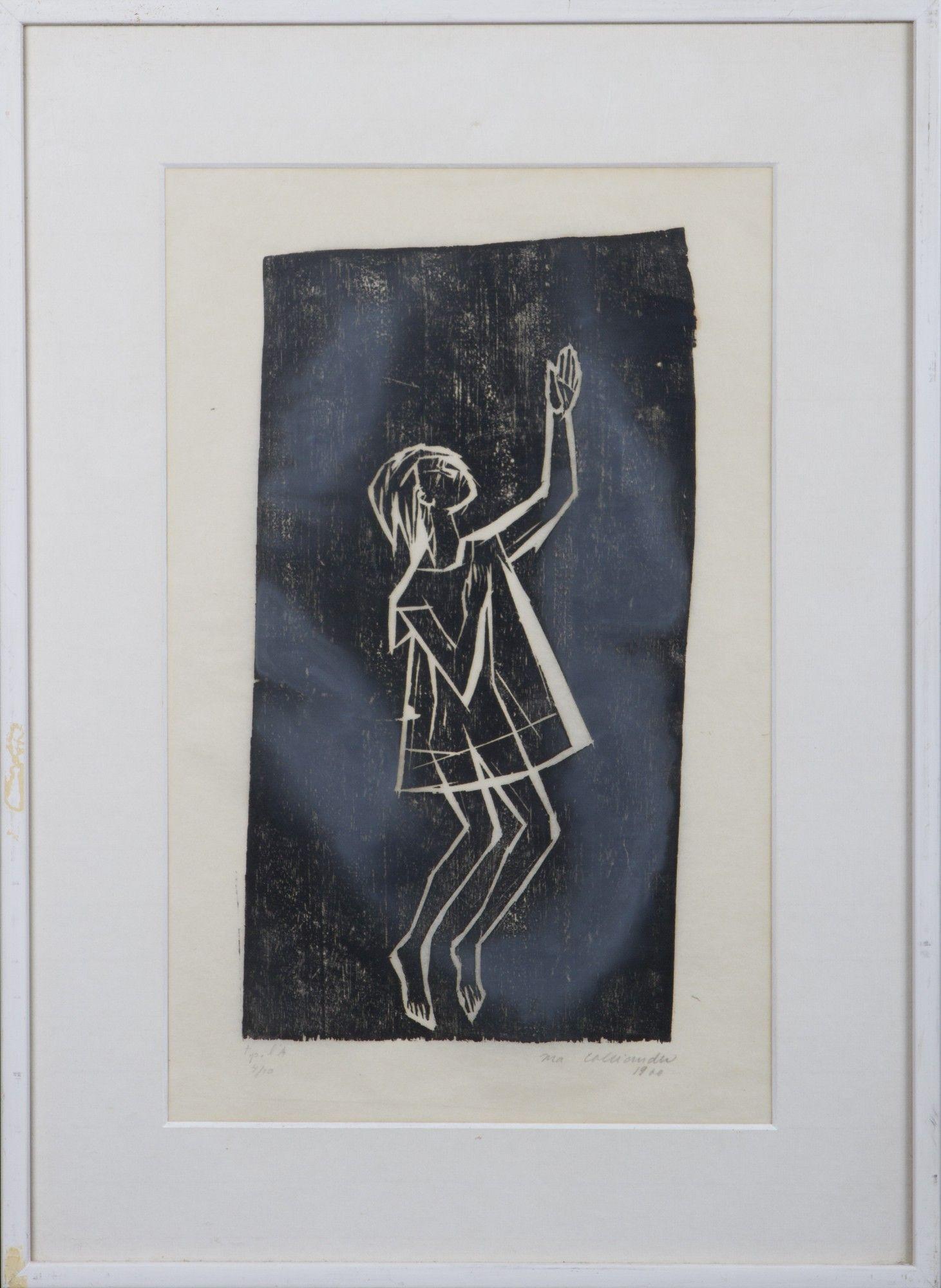 Ina Colliander, 1960, puupiirros, 45x28 cm, edition 4/10 - Hagelstam A130