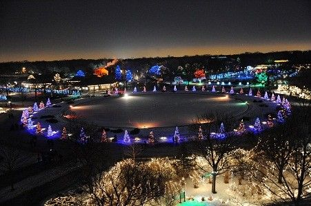 Christmas At Lincoln Park Zoo Chicago IL | Holiday Magic Christmas Light  Show At Brookfield Zoo