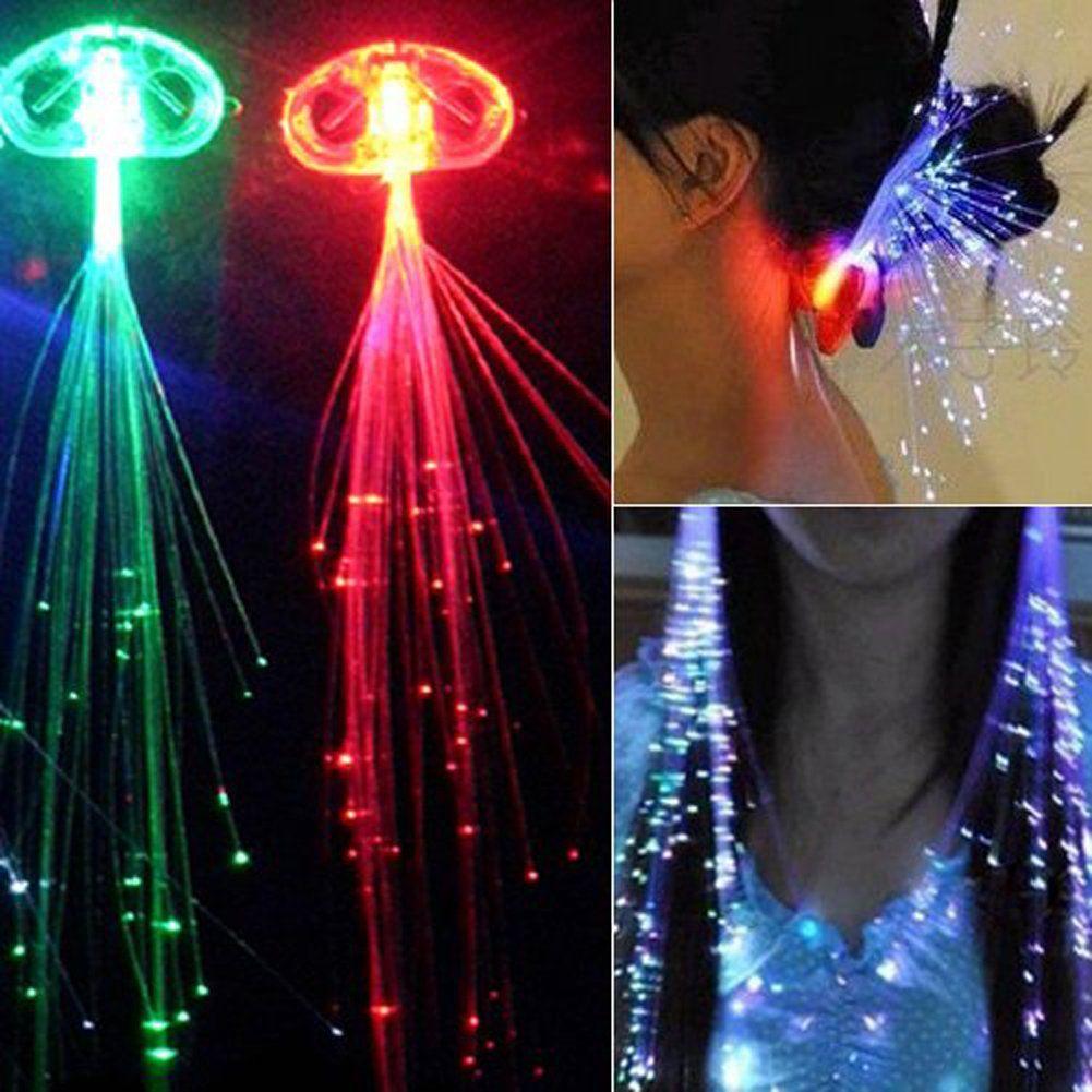 Zehui 10x Led Light Up Hair Extensions Fibre Optic Hair Clip In