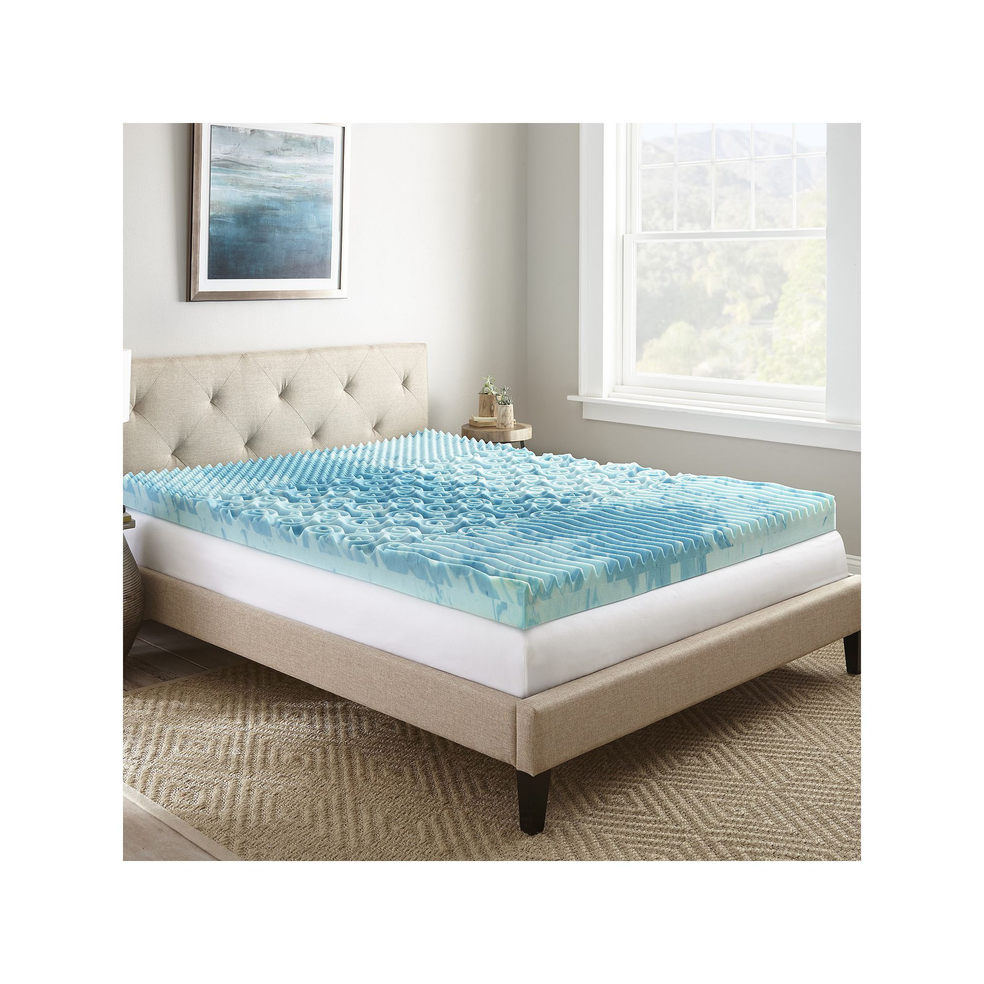 bath foam free shipping mattress conventional today inch splendorest overstock product topper bedding