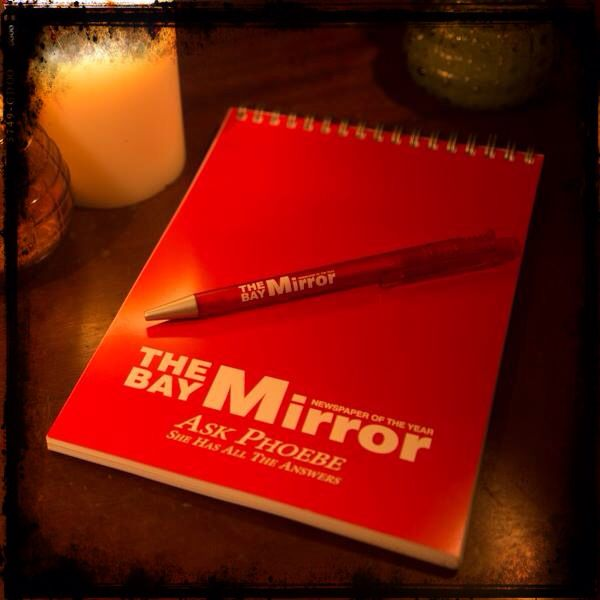 """The Bay Mirror Notepad & Pen"" #WayneAlecAdams #PrescottManor #Charmed #TheBayMirror #Notepad #Pen #CharmedArtWorks #Wicca #Artwork #Magic"