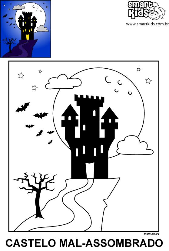 Colorir Desenho Castelo Mal Assombrado Castelos Assombrados