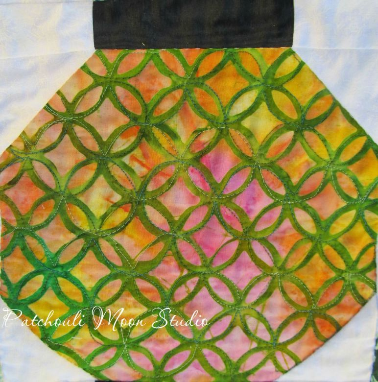 chinese lantern quilt patterns   quilted each lantern differently ... : chinese lantern quilt pattern - Adamdwight.com