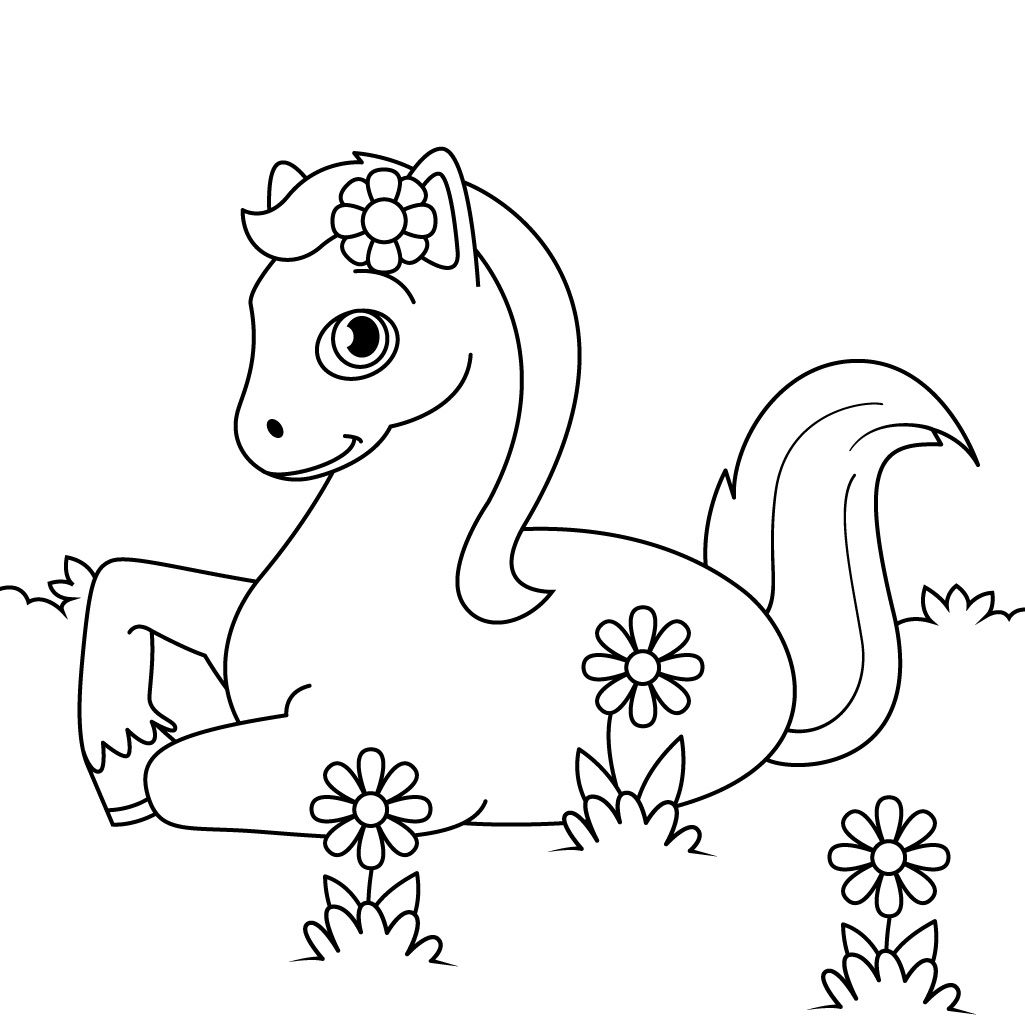 Unicorn horse coloring pages - Have Fun Coloring Horses Ponies And Unicorns With Horse Coloring Pages For Kids