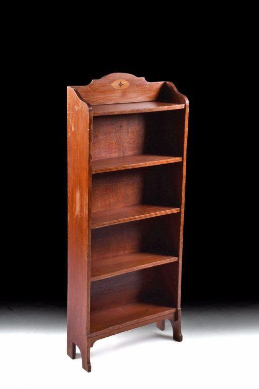 Arts & Crafts-style Mahogany Bookshelf c. 1950 : Lot 236