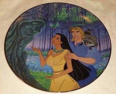 "Disney's Pocahontas Collector Plate ""Listen to Your Heart"" Bradford Exchange"