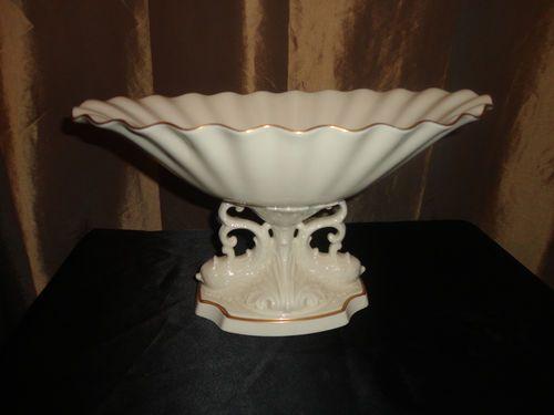 Lenox porcelain pedestal compote bowl dolphin leaf quot home