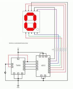 control a common cathode seven segment display using 7490 4511 and rh pinterest co uk Basic Electrical Wiring Diagrams Types of Schematic Diagrams