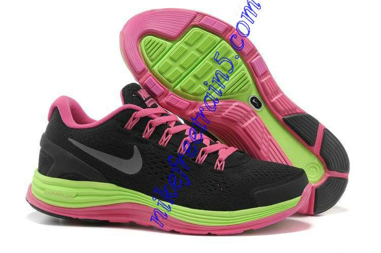 cae3f931d93f ... nike running Womens Nike Lunarglide 4 Black Lime Green Fireberry Pearl  Pink 524978 105 ...