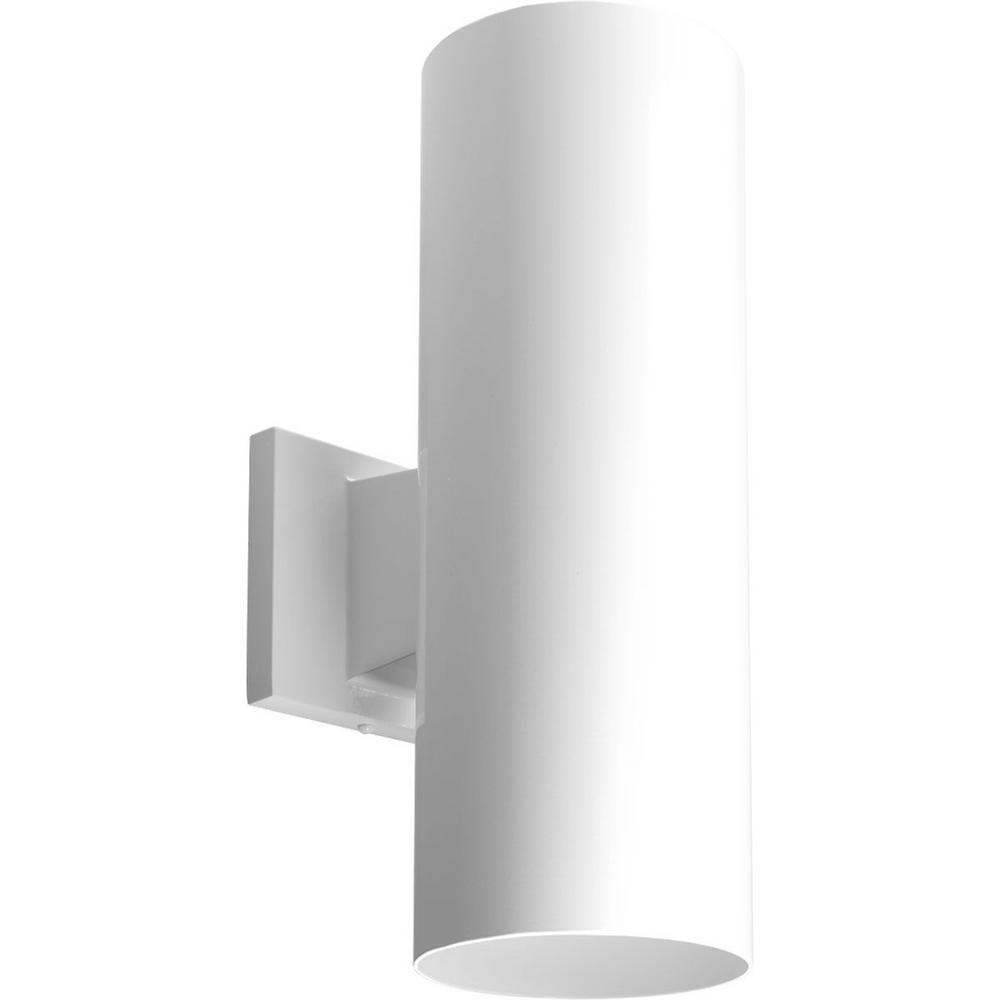 Progress Lighting Cylinder Collection 5 White Modern Outdoor Up Down Led Wall Lantern Light P5675 30 30k The Home Depot In 2021 Led Outdoor Wall Lights Outdoor Wall Lighting Outdoor Wall Lights