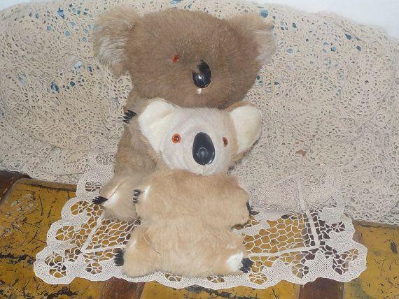 Koala Bears Mommy and Baby, 2 Vintage Koala Bears, Interpur Korea Koala Bears, Vintage Stuffed Plush Toys, Vintage Toys, Toys, Prop, : s*