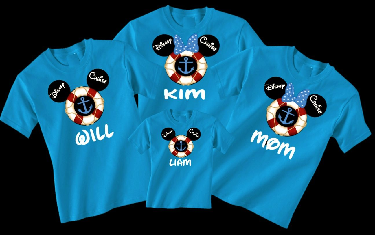 Disney cruise family vacation t shirts choose your name for Custom t shirts family vacation