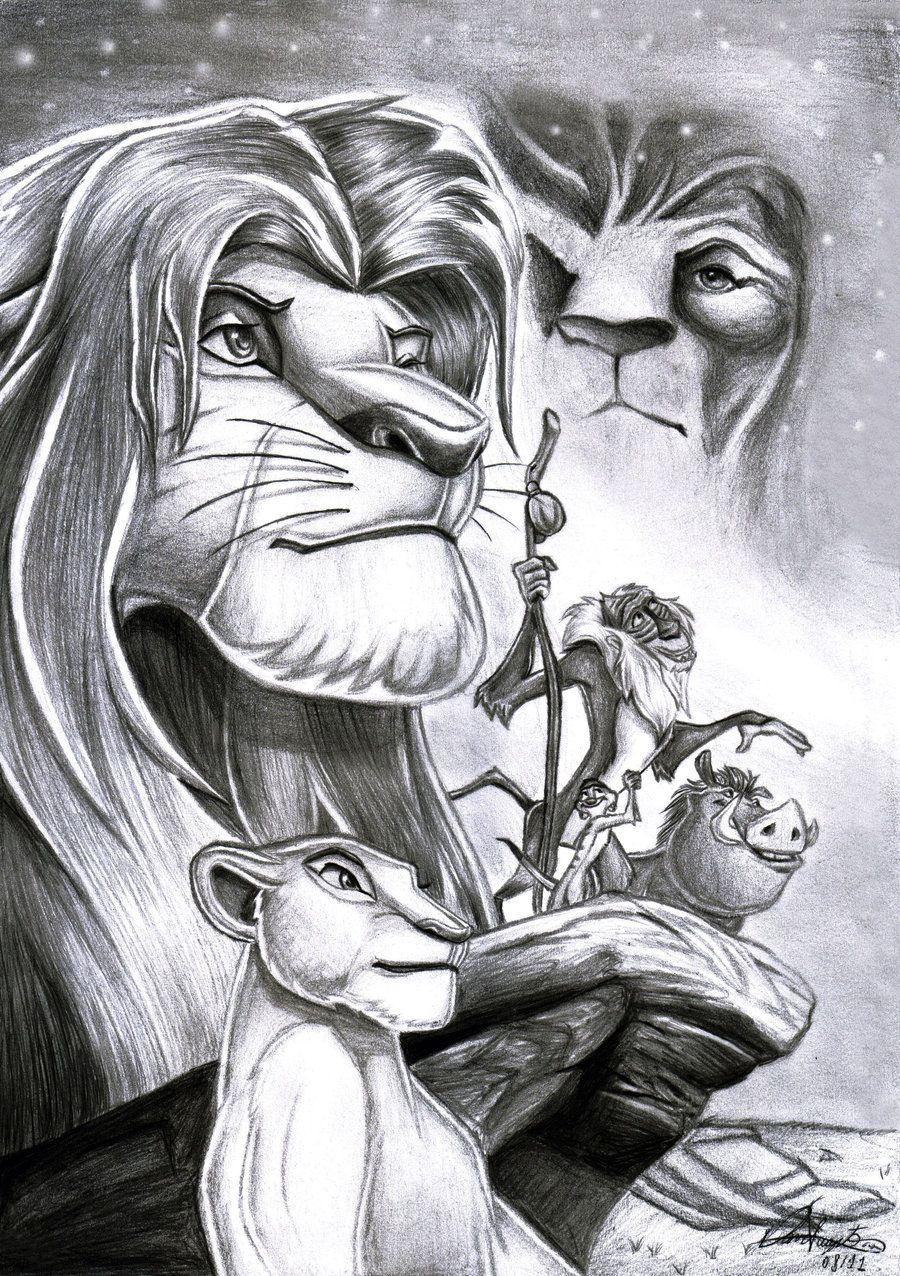 Pencil Drawings Of The Lion King