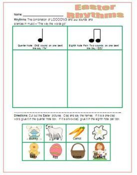 Easter Rhythms | Free Elementary Music Ed Resources | Kindergarten