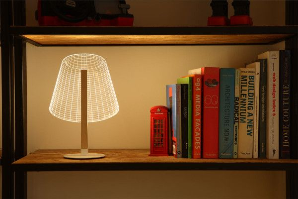 Modern Optical Illusion Lamps By Studio Cheha Design Milk Lamp Adjustable Lighting Reading Lamp