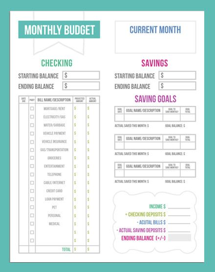 Budgeting Worksheets on Pinterest | Budgeting Tips, Monthly Budget ...