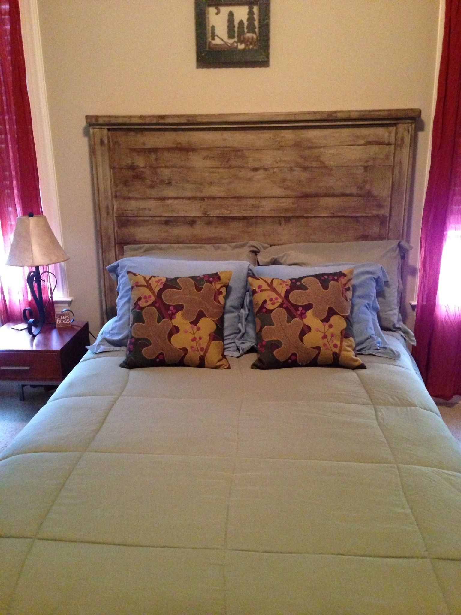Reclaimed wood full size headboard | Do It Yourself Home Projects ...