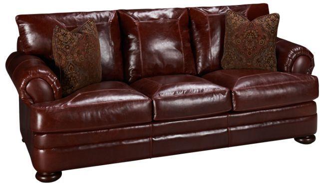 Klaussner Montezuma Leather Sofa Jordan S Furniture