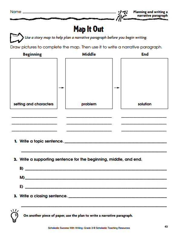 graphic organizers for personal narratives scholasticcom - Personal Narrative Essay Examples