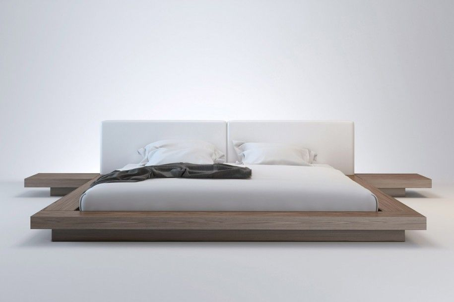 Creative Floating Wooden Bed Platform Design For Modern Minimalist Bedroom  Interior With Friendly Idea Picture
