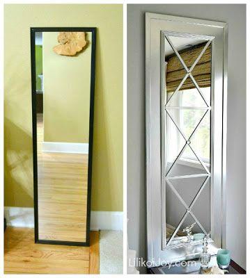Lilikoi Joy Upcycle A Door Mirror From Drab To Fab Diy Home Decor Home Diy Cheap Home Decor