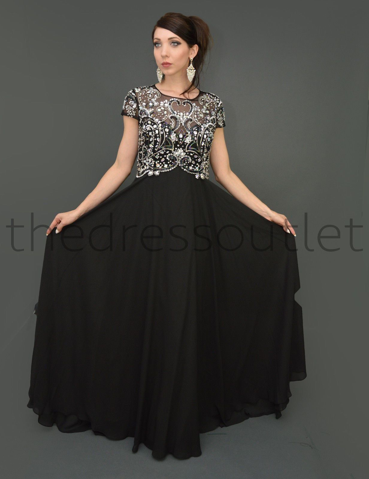 f28a0fe544a Modest Mother of the Bride Plus Size Formal Long Gown - The Dress Outlet - 2