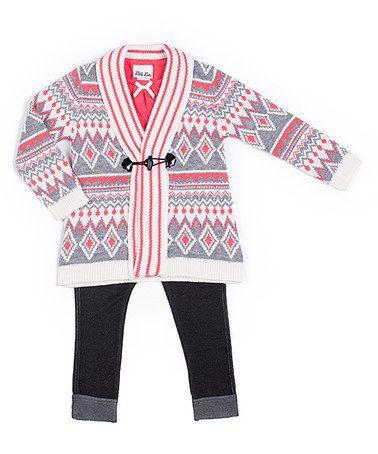 Little Lass Pink Fair Isle Sweater Set - Infant, Toddler & Girls ...