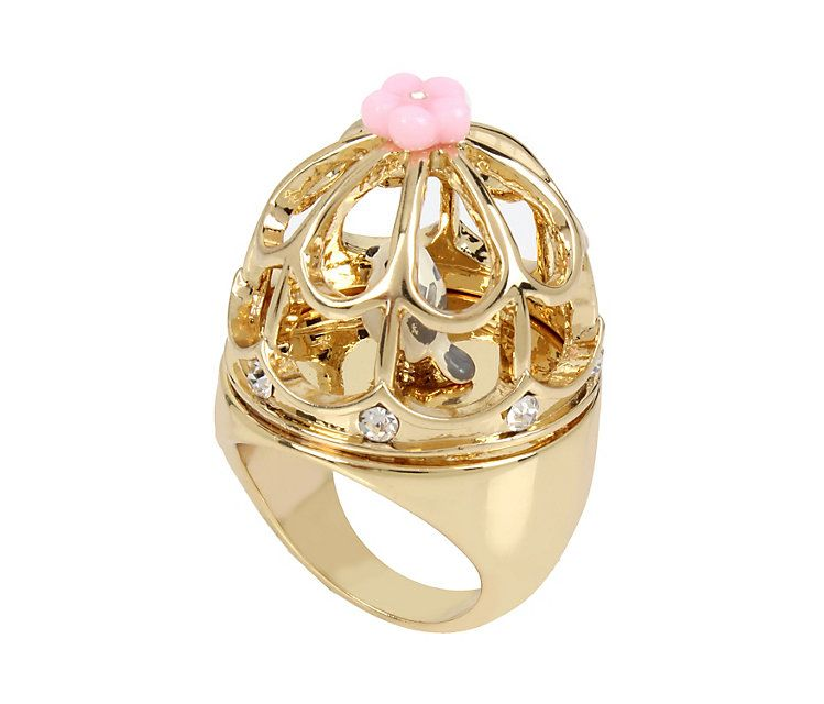 MARIE ANTOINETTE BIRD CAGE RING: Betsey Johnson
