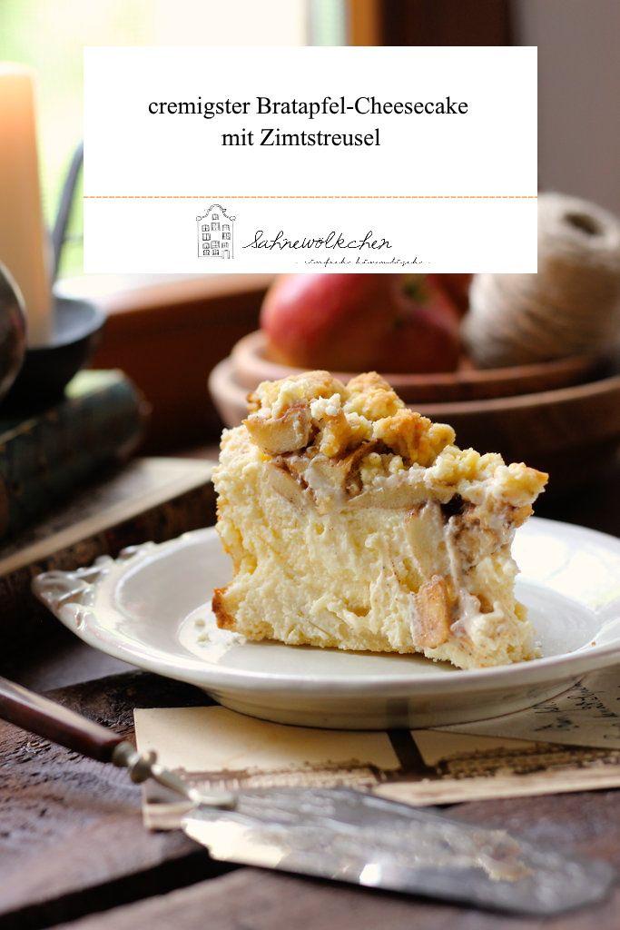 Photo of Rezept für cremigen Bratapfel Cheesecake mit Zimtsreusel / Herbst / Weihnachten / Herbstrezept