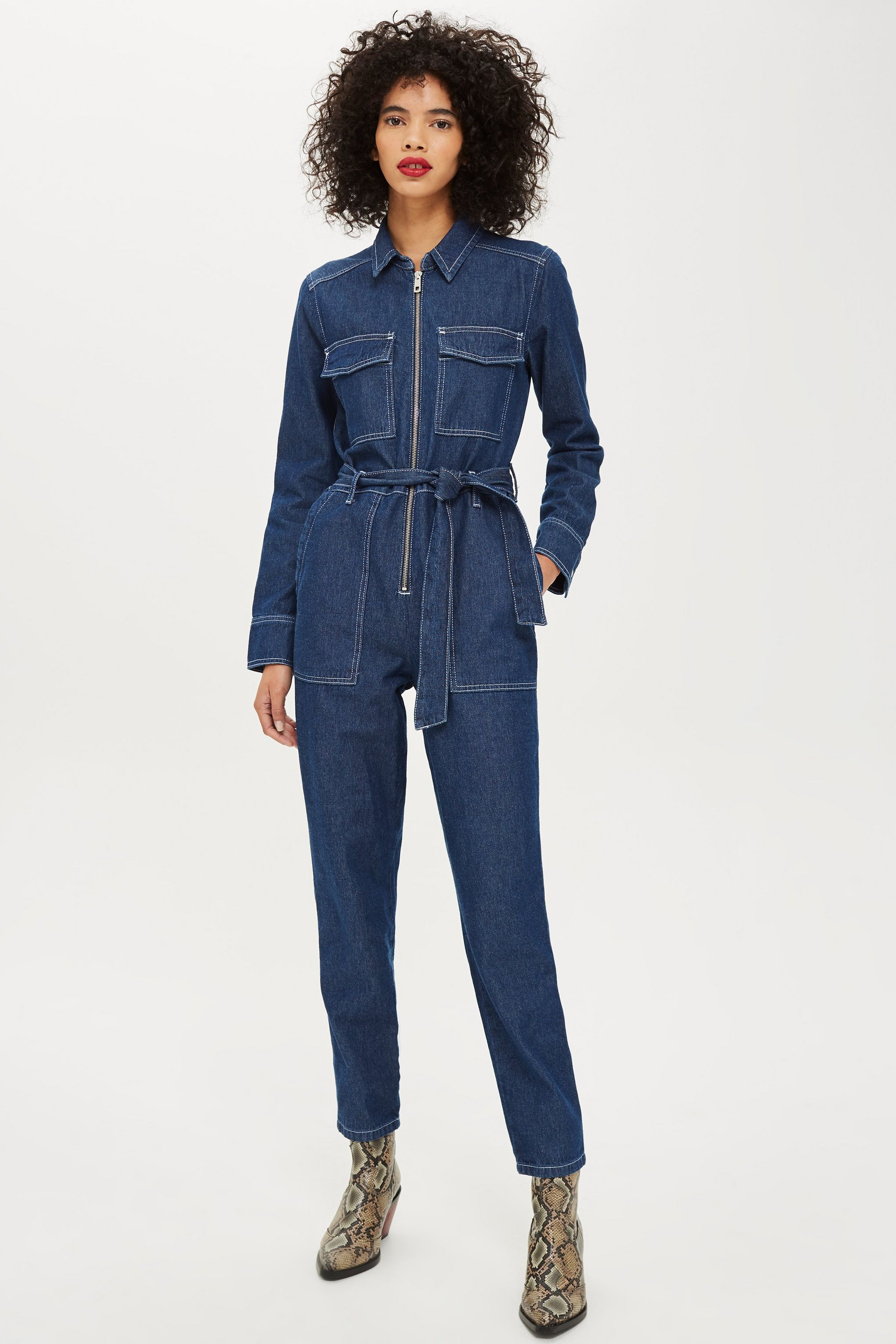 Carousel Image 0   Denim jumpsuit outfit, Rompers womens ...