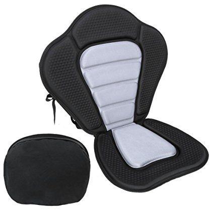 Pellor Deluxe Sedile schienale imbottito regolabile in rafting Canoa kayak Con il sacchetto posteriore staccabile
