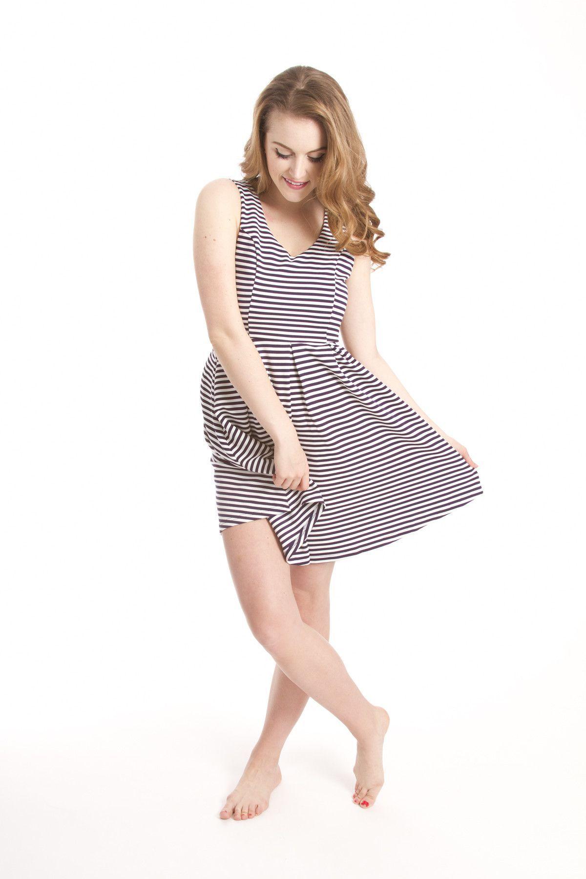 Women's Dress- Navy Bow Dress