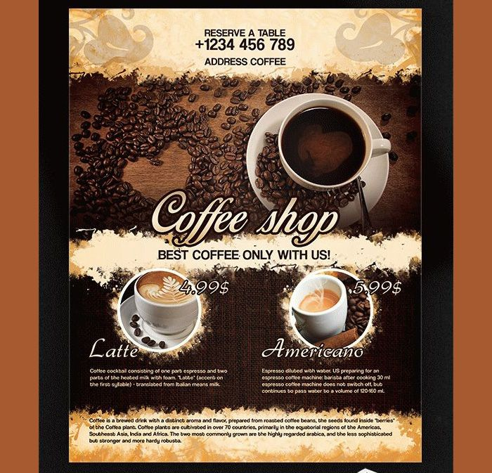 23 Coffee Shop Flyer Templates Free And Premium With Images
