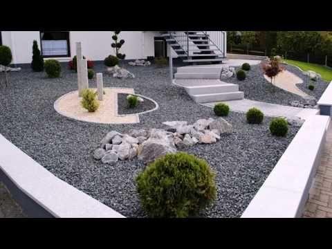 Kiesbeet anlegen - Rasenfläche durch Kiesbeet ersetzen - Steingarten Kiesgarten anlegen - YouTube #vorgartenanlegen