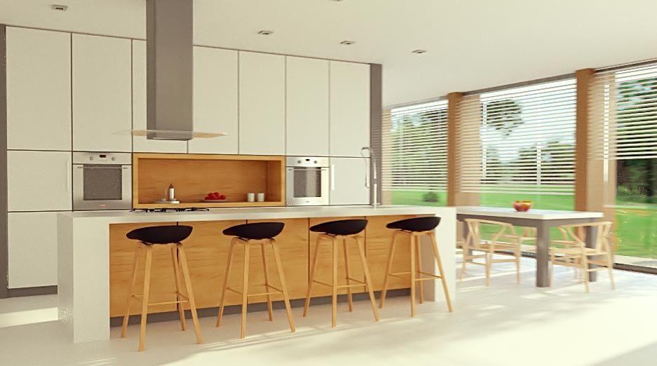 Soggiorno Oslo ~ Rendering interno realizzato da render lab cucina soggiorno