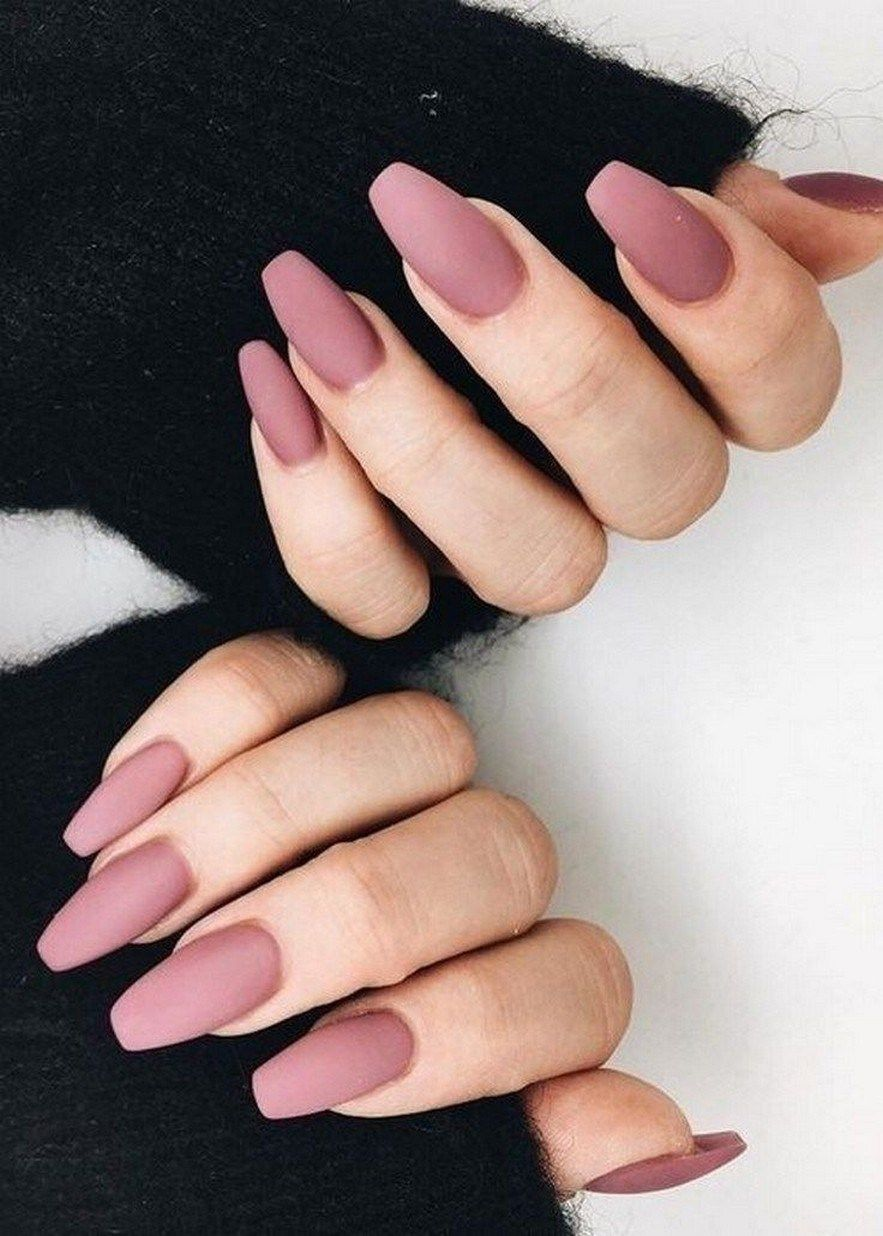 57 Hot Almond Shaped Nails Colors 2019 To Get You Inspired To Try 10 Welcome Mauve Nails Rose Nails Matte Nails Design