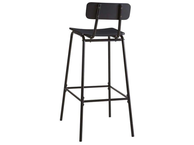 Tabouret de bar MIKA coloris noir - Vente de Chaise de cuisine - Conforama Tables De Cuisine