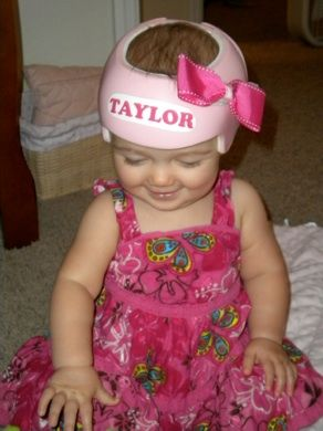 A Mother Who Wanted To Decorate Her Babys Cranial Remolding - Baby helmet decals