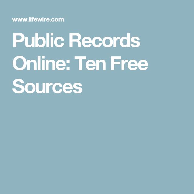 Public Records Online: Ten Free Sources