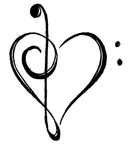 Corazón Clave De Sol Like Pinterest Muziek Muziek