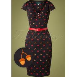 Photo of 50s Irene Hollynuts Pencil Dress in BlackTopvintage.de